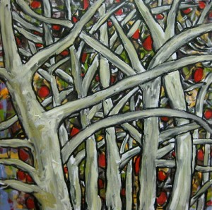 Bare Trees with Fruit (sold)